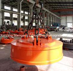 China Plate Scrap Lifting Magnet , Material Handling Magnet Great Suction Ability factory
