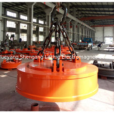 China Permanent Electric Lifting Magnets Weather Resistant For Bridge Crane Round Shape factory