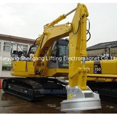 China 220V Rated Voltage Excavator Magnet Attachment Handlers 12500kg Lifting Capacity factory