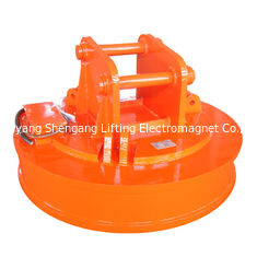 China Small Scrap Metal Magnet , Hydraulic Magnet For Excavator Considerate Operation Reliability factory