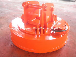 China Energy Saving Scrap Handling Magnets , Mini Excavator Parts Orange Color factory