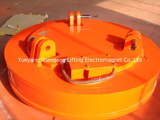 China Mn Industrial Lifting Magnets Orange Color Large Air Space High Magnetism Density factory