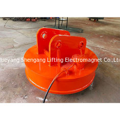 Round Excavator Magnet Attachment 60% Duty Cycle For Transporting Iron Scraps