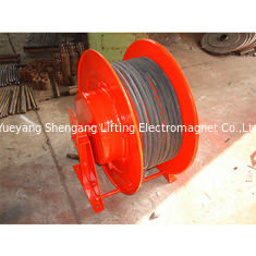 Crane Spring Loaded Cable Reel , Retractable Power Reel Inding Drum Red