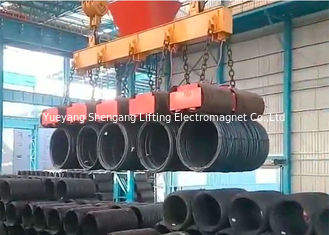 China 4000KG Electric Lifting Magnets 60% Duty Circle 3000*600mm Dimension factory