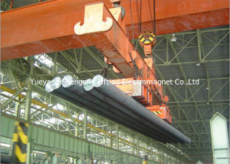 China Handling Round Steels Electric Lifting Magnets , Magnetic Sheet Lifter Convenient factory