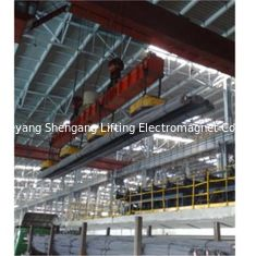 Rectangular Industrial Lifting Magnets , Magnetic Overhead Crane Even Surface