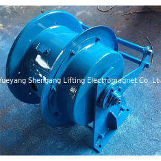 China 50m Metal Garden Hose Reel Spring Loaded Horizontal Coiling Installation Pattern factory