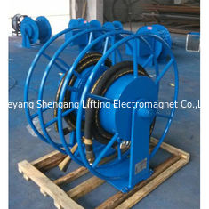 China Mortor Driven Metal Hose Reel , Heavy Duty Hose Reel Safe Transportation factory