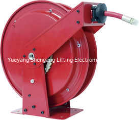 China Hydraulic Oil Retractable Hose Reel Red Color High Power Force Long Distance factory