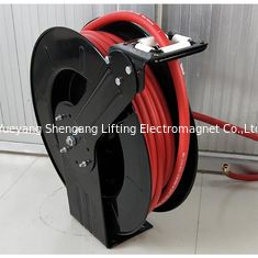 China Double Hose Retractable Water Hose Reel Spring Driven Type For Liquid Supply factory