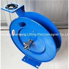 China 15m Length Retractable Hose Reel Drum Spring Driven Auto Type Blue Color factory