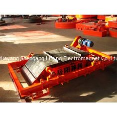 China Red Color Overband Magnetic Separator For Handling Irons 800mm Width factory