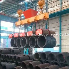 China Rectangular Hoist Electric Lifting Magnets Several Coils Lifted Simultaneously factory