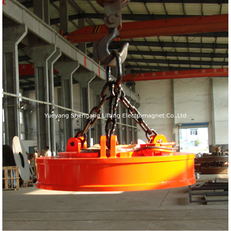 Iron Industrial Lifting Magnets DC 220V Rated Voltage Long Durability supplier