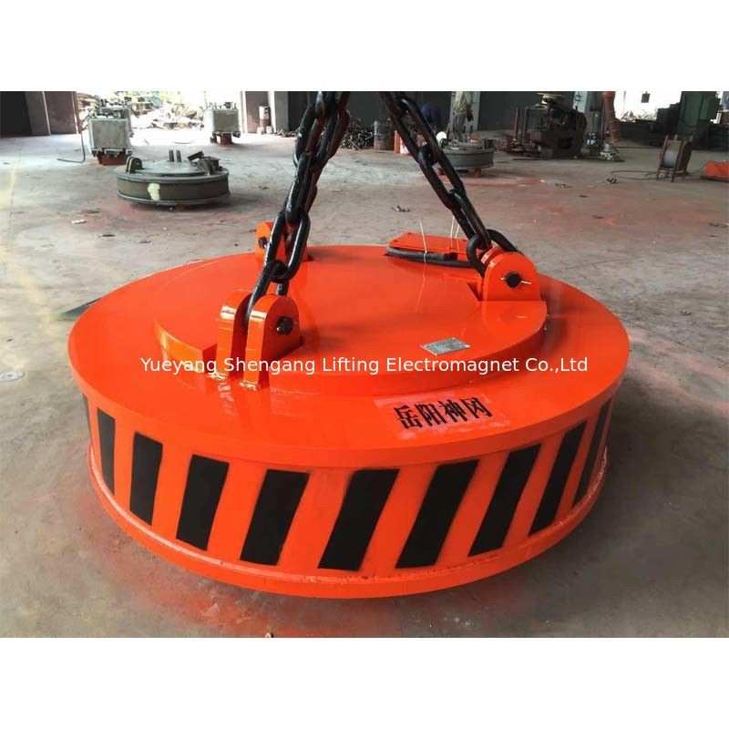Welded Construction Steel Plate Lifting Magnets 60% Duty Cycle Quick Coupling supplier