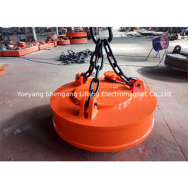 Industrial Crane Scrap Lifting Magnet Circular Type Overhead Installation supplier