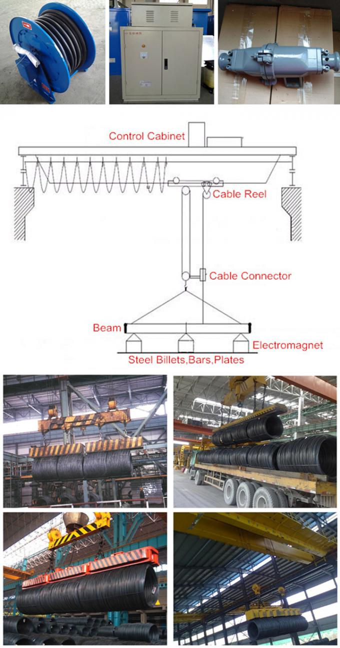 Rectangular Hoist Electric Lifting Magnets Several Coils Lifted Simultaneously